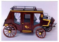 Fajáték kiállítás illusztráció: postakocsi