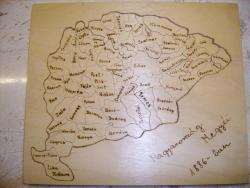 2D kirakók - Magyarország alakú kirakó